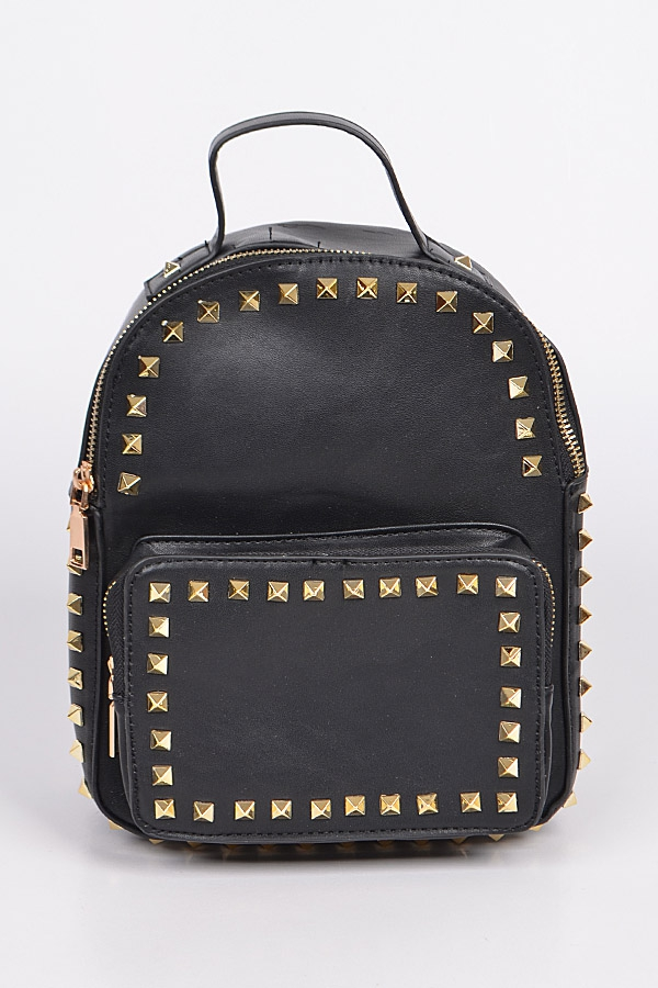 Studded Small Backpack - orangeshine.com