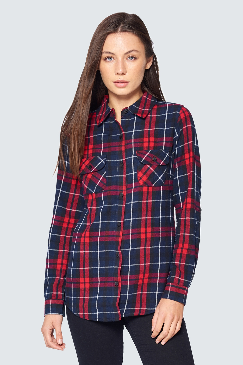 Plaid Flannel Long Sleeve - orangeshine.com