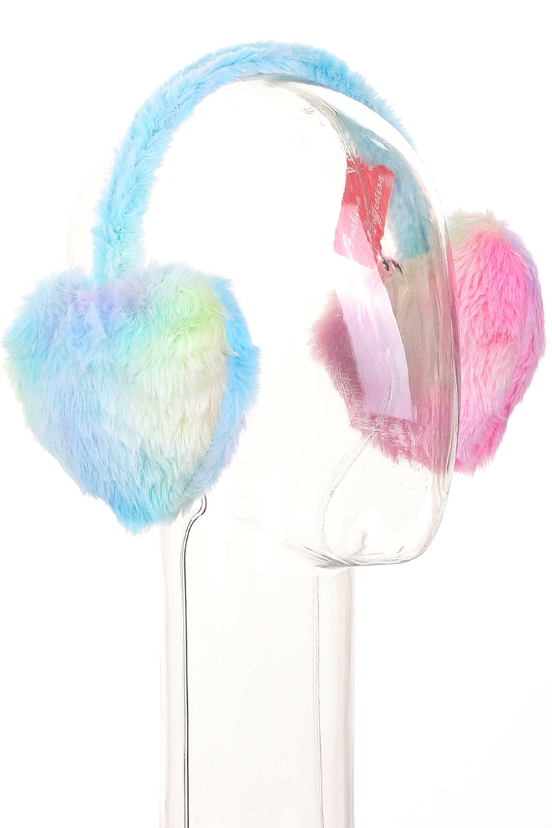 Soft Fur Heart Earmuffs - orangeshine.com