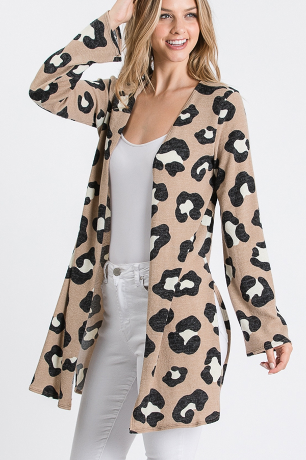 LEOPARD ANIMAL PRINT CARDIGAN - orangeshine.com