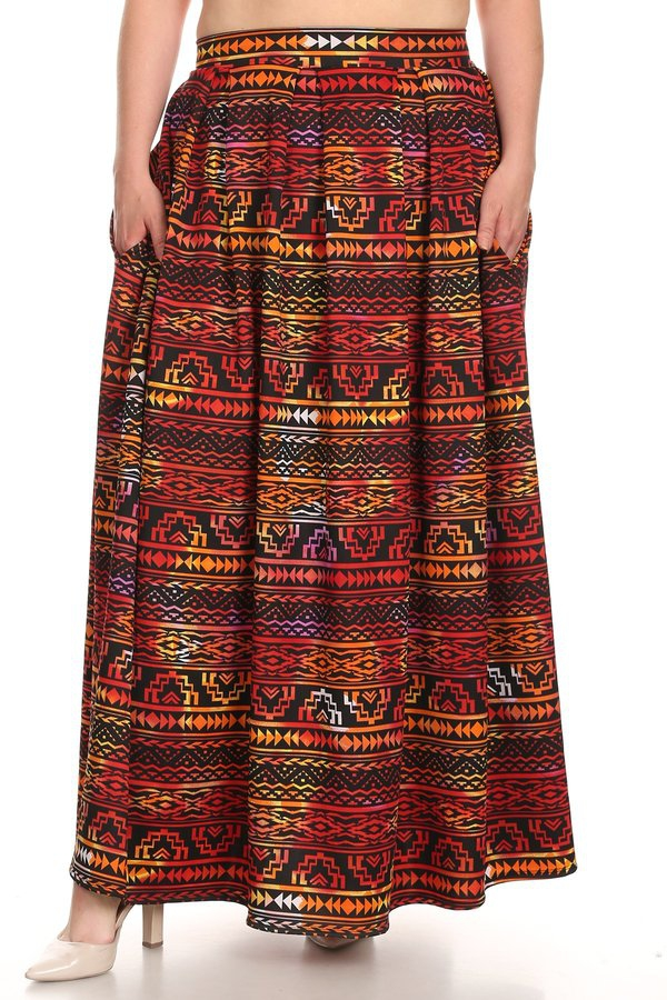 Pleated Maxi Skirt - orangeshine.com