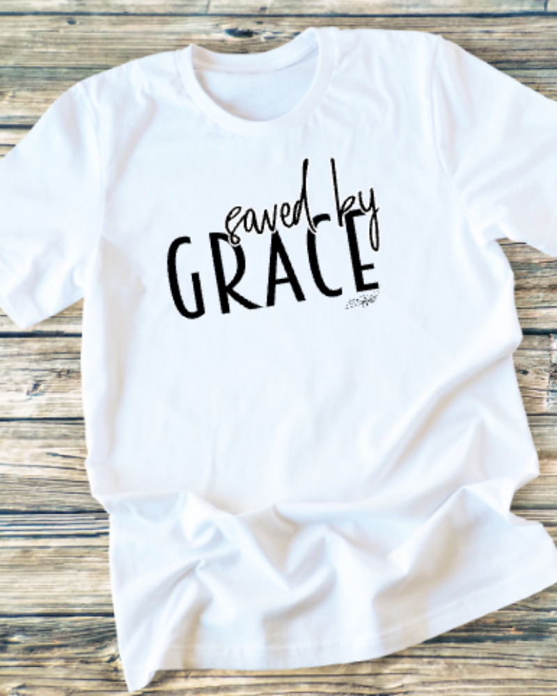 GRAPHIC TEE - Saved By Grace - orangeshine.com
