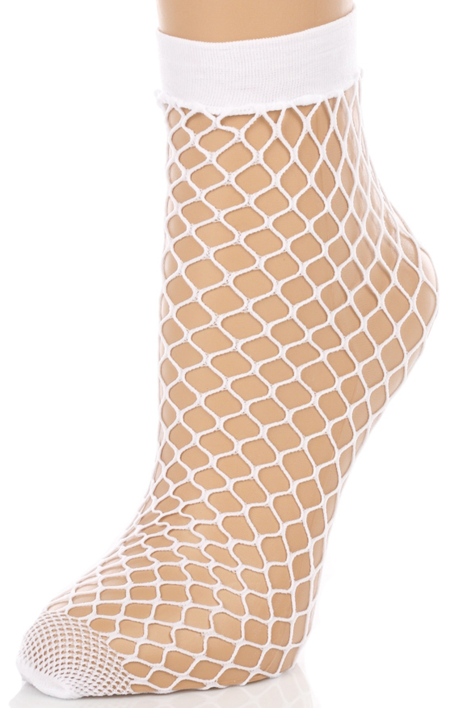 Fishnet Ankle High Socks - orangeshine.com