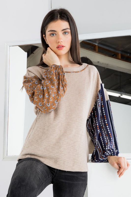 Drop Shoulder Knit Top - orangeshine.com