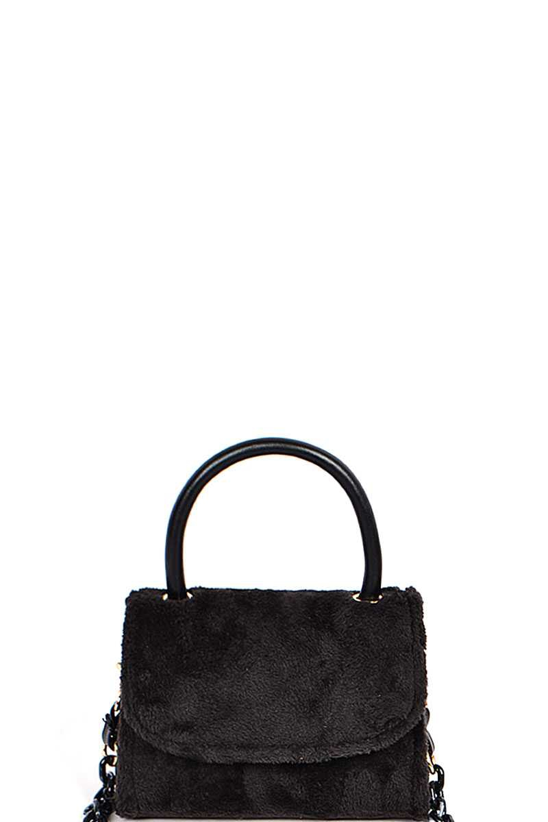 SOFT FUR CROSSBODY CLUTCH BAG - orangeshine.com
