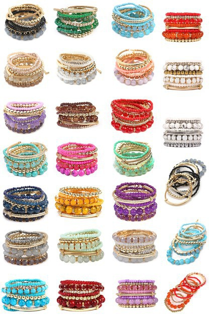 MULTICOLOR STRETCH BRACELETS - orangeshine.com