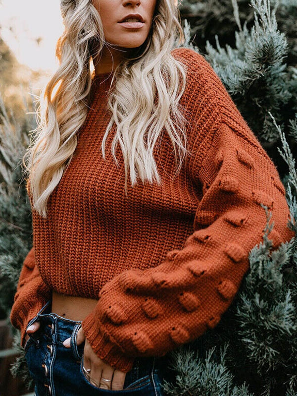 SOLID COLAR  ROUND NECK LONG SLEEVE  - orangeshine.com