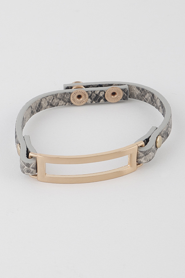 Open Cut Animal Print Bracelet - orangeshine.com