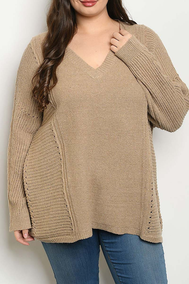 EMBROIDERY DESIGN SWEATER TOP - orangeshine.com