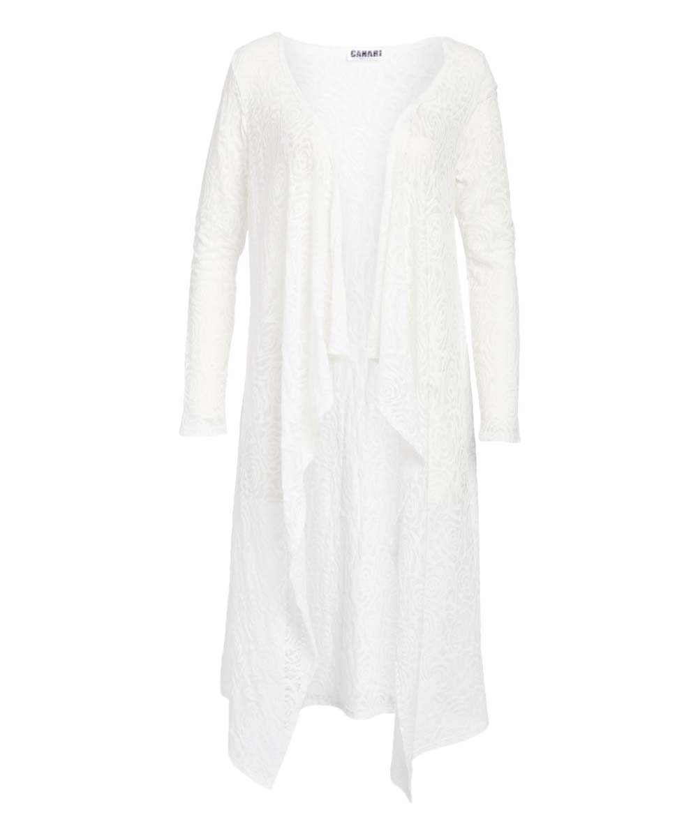 White Hi-Low Open Duster - orangeshine.com
