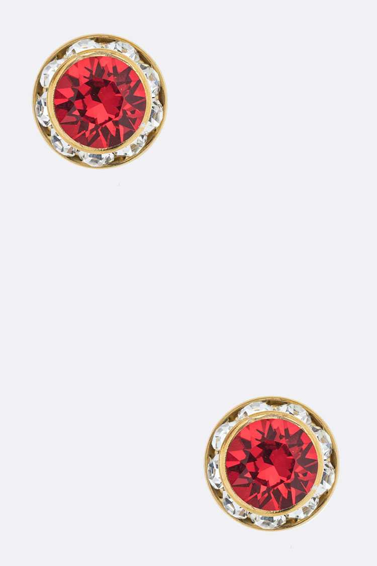10MM Austrian Crystal Stud Earrings - orangeshine.com