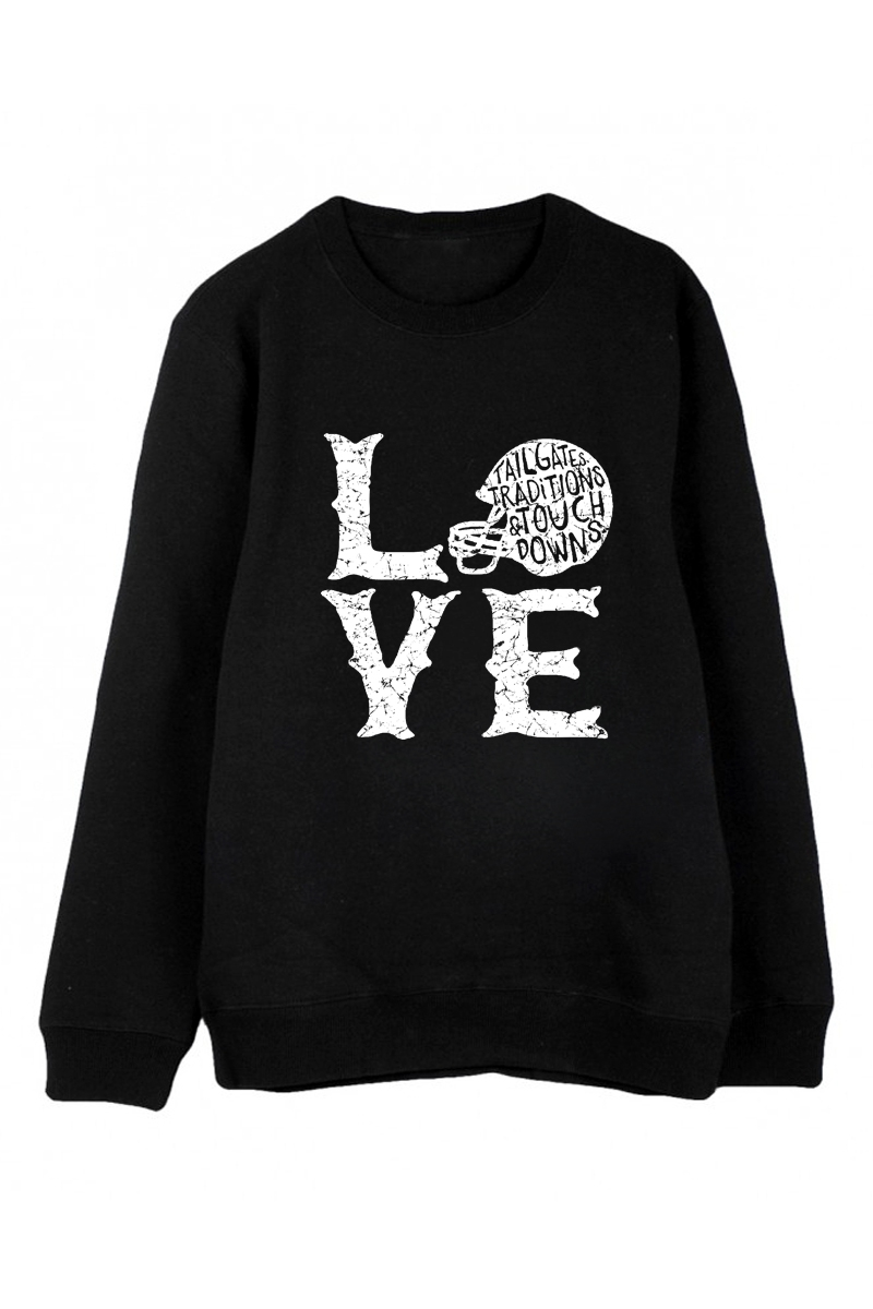 Love Football Crew Neck Sweater - orangeshine.com