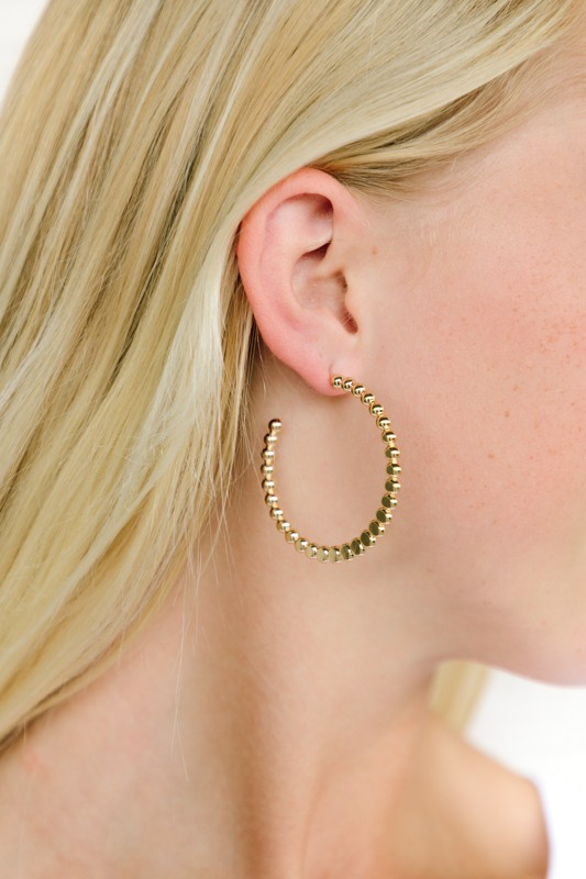 Textured Hoop Earring - orangeshine.com