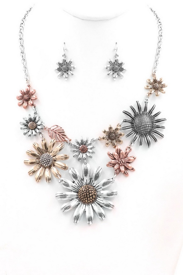 Flower Pendant Necklace - orangeshine.com