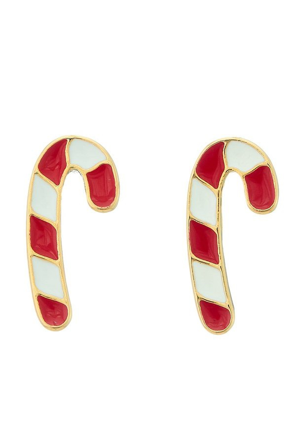 Candy cane stud earrings - orangeshine.com