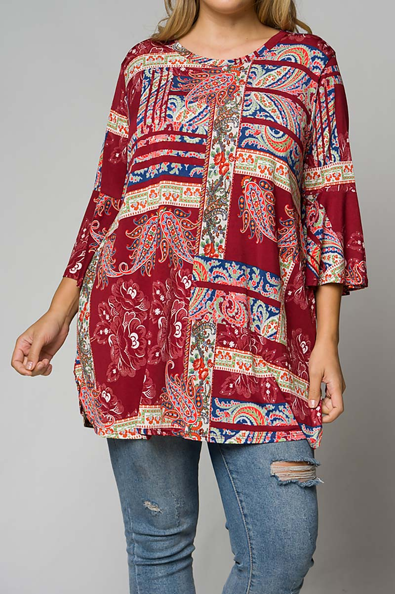 PLUS SIZE TUNIC TOP WITH POCKETS  - orangeshine.com