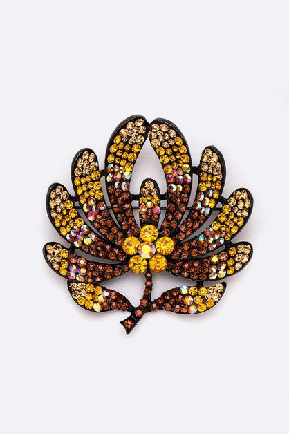 Crystal Flower Large Brooch Pin - orangeshine.com