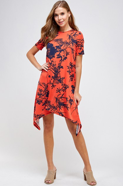 Asymmetrical Fashion Swing Dress - orangeshine.com