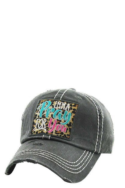 LEOPARD PATCH Washed Vintage Ballcap - orangeshine.com