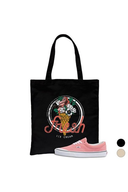 Fresh Ice Cream Canvas Bag - orangeshine.com