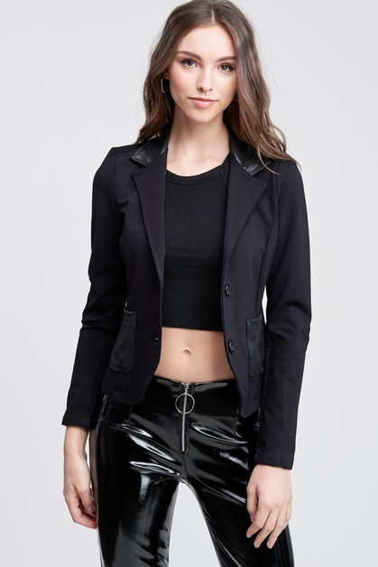 POCKET BLAZER WITH ELBOW PATCH - orangeshine.com