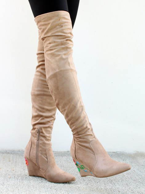 Llana-01 Over Knee Boots - orangeshine.com