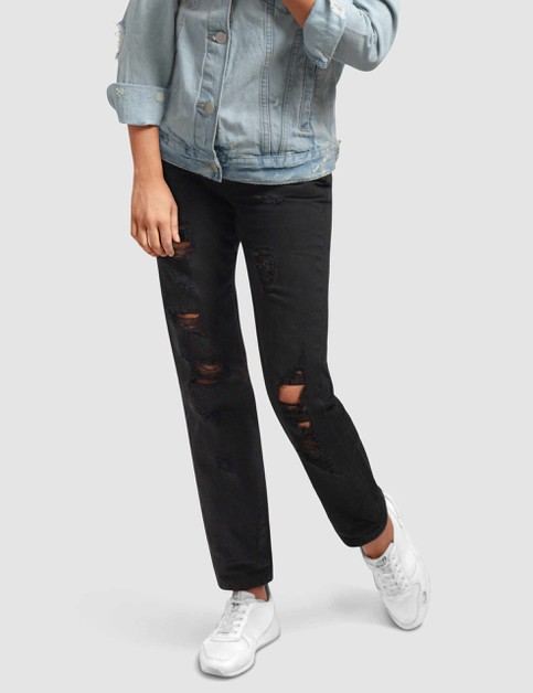 Womens Stretch Boyfriend Denim Pants - orangeshine.com