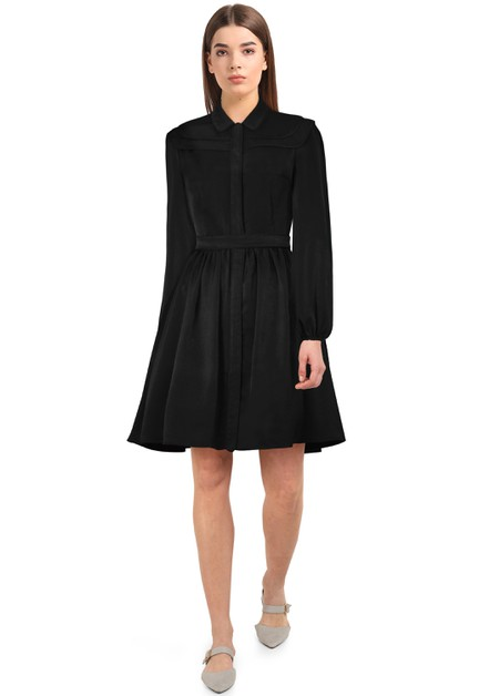 Plus Size Black Long Sleeve Dress - orangeshine.com