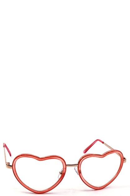 MODERN LOVELY HEART SHAPE EYEGLASSES - orangeshine.com