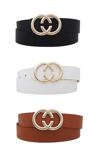 FASHION DOUBLE RING BUCKLE BELT - orangeshine.com