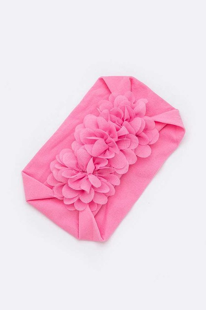 Chiffon Flower Baby Stretch Headband - orangeshine.com
