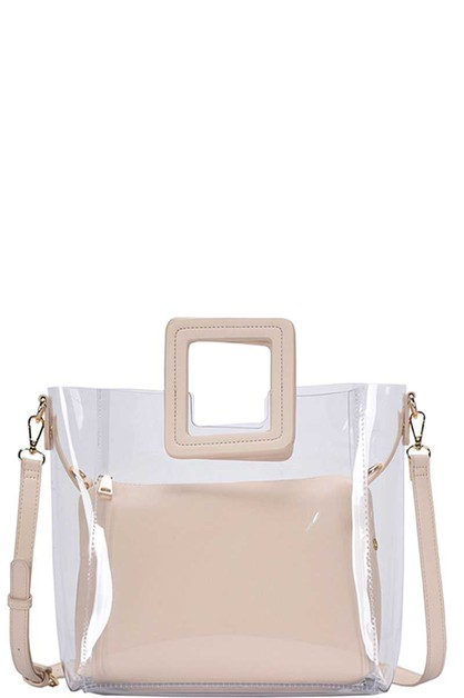 TRANSPARENT CHIC TOTE  - orangeshine.com