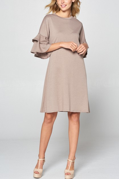 Women basic solid knee length dress - orangeshine.com