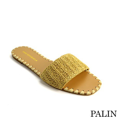 SLIP ON MACRAME UPPER SANDAL - orangeshine.com