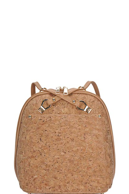 CUTE CORC TEXTURED TWO TONE BACKPACK - orangeshine.com