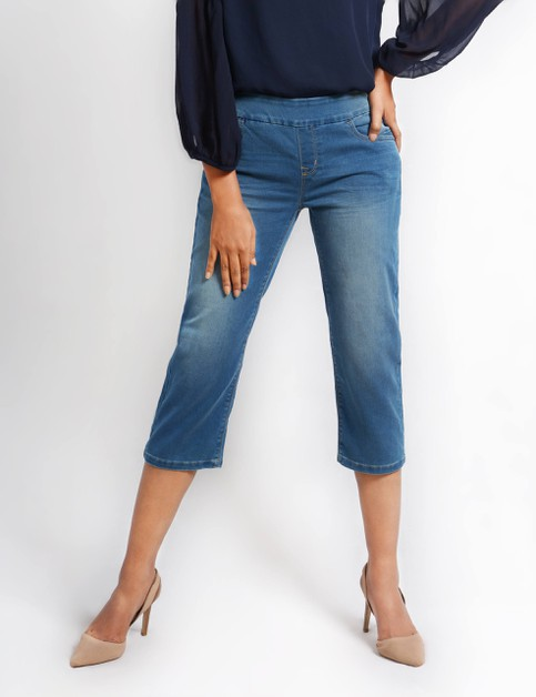 Womens Stretch Denim Pull Up Pants - orangeshine.com
