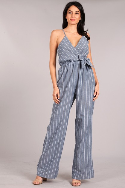 Striped Jumpsuit - orangeshine.com