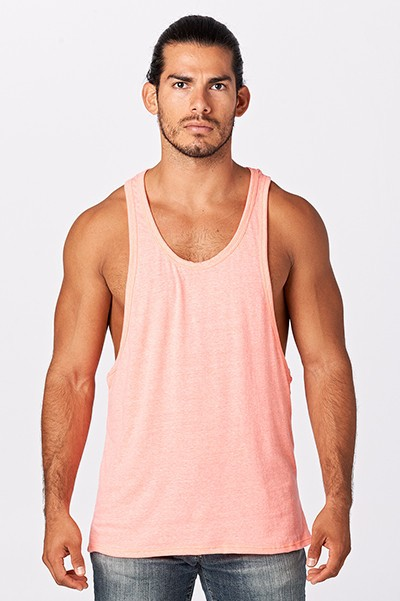MENS TRIBLEND MUSCLE TANK TOP  - orangeshine.com