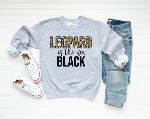 Leopard is the New Black Sweatshirt - orangeshine.com