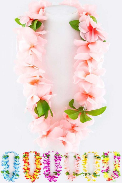 Assorted Colors Flower Necklace Set - orangeshine.com