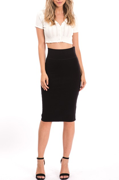 Women Bodycon Pencil Skirt - orangeshine.com