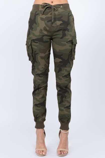 CARGO POCKET JOGGERS WITH DRAWSTRING - orangeshine.com