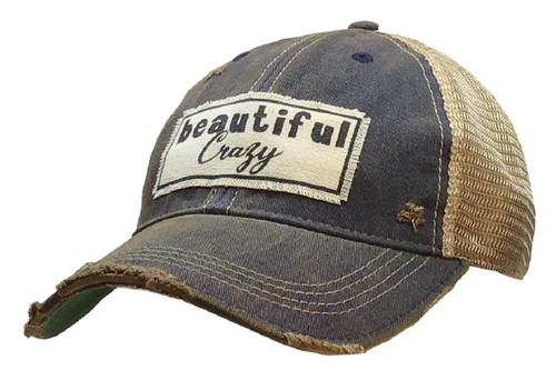 Beautiful Crazy Distressed Trucker - orangeshine.com