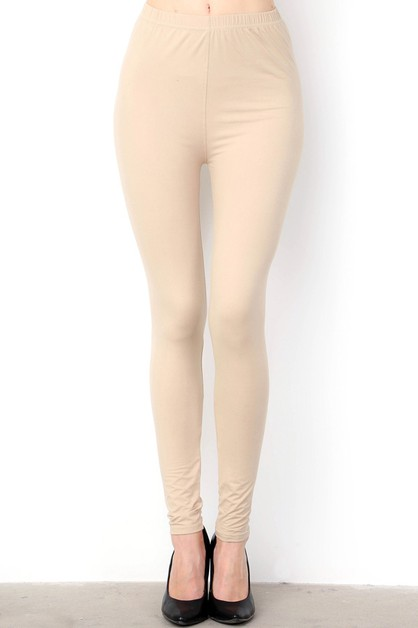 BUTTERY SOFT PEACH SKIN LEGGINGS - orangeshine.com