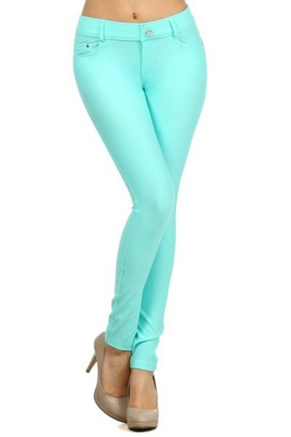 STRETCHABLE BASIC JEGGINGS W/5 PKTS - orangeshine.com