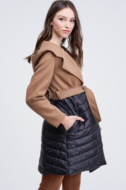 BOTTOM BOMBER DRESSY FELT COAT - orangeshine.com