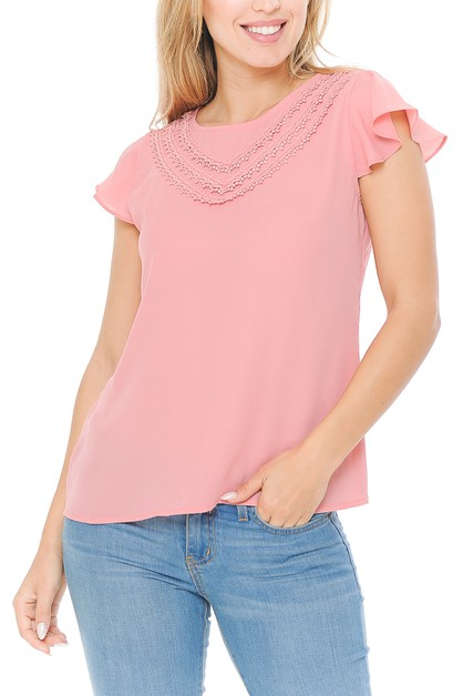Women casual short sleeves blouse to - orangeshine.com