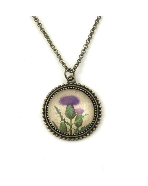 Scottish Thistle Necklace - orangeshine.com