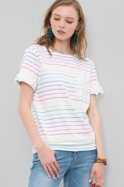 Women casual short sleeve top - orangeshine.com