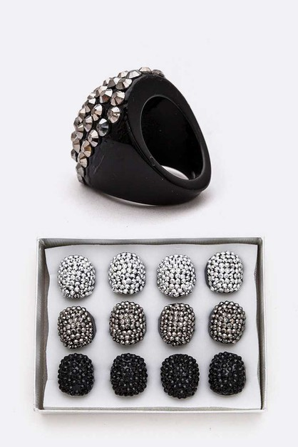 Stone Pave Iconic Ring Set - orangeshine.com
